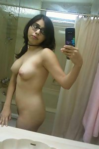 Indian in shower taking her naked pics