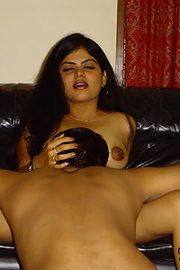 Indian Wife Neha giving her hubby a blowjob and gets licked