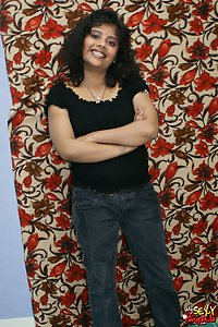 Hot Rupali in black tshirt and jeans stripping naked