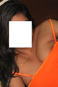 Indian Exotic Wife Orange Top Stripped Nude On Bed