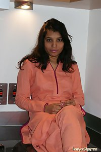Indian Babe Kavya in her kitchen in shalwar suits cooking