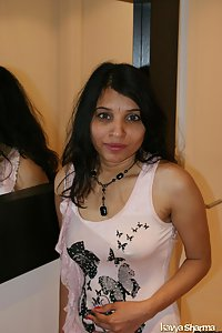 Indian Babe Kavya showing off in members gifted pink top