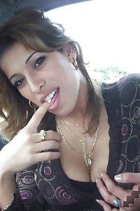 Porn Pics Indian Girl Sheena Showing Big Tits In Car