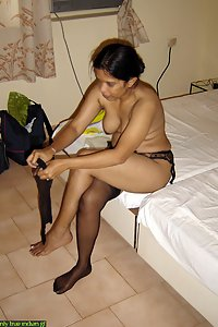 newly wed Indian wife changing