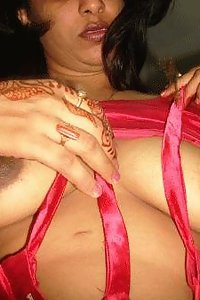 Indian wife showing off