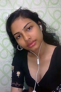 newly married Indian wife with her hubby naked in bed