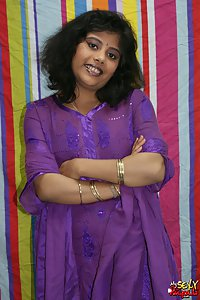 Big boobs rupali in purple Indian shalwar suit