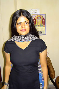 Indian Wife Neha in sexy black Indian shalwar suit stripping