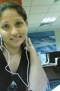 Indian call center girl giving some sexy poses on camera