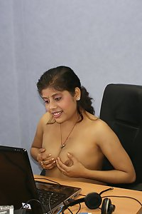 Rupal chatting in her boyfriend office cabin exposing