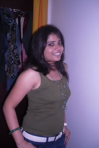 Hot Indian girl showing her assets off