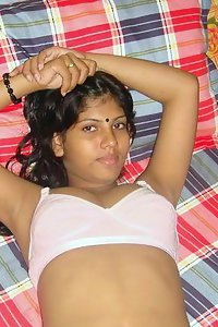 Bengali wife laying naked in bed