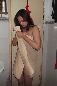 Hot looking sonia getting ready for wedding party in toilet naked