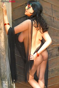 Savita bhabhi with big juicy boobs in open air shoot