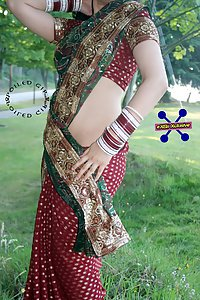 Indian wife in saree stripping naked